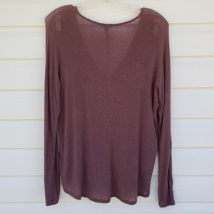 Wilfred Fragon Sweater Top XS Brown V Neck